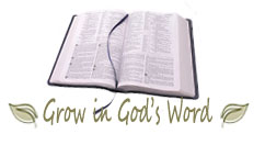 Picture of Bible - Grow in Gods Word